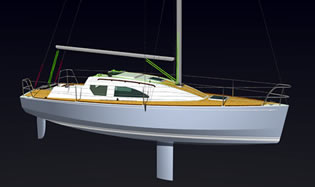 25-footer traileable centerboard