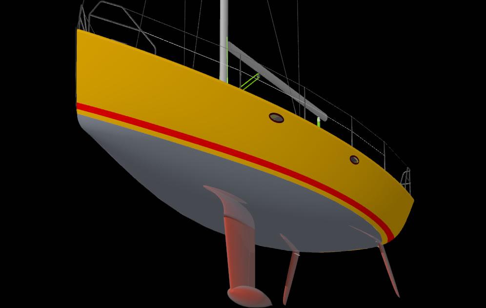 Парусная яхта данного проекта